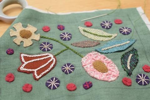 アップリケと刺繍