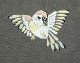 すずめの刺繍紋