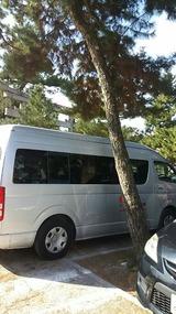 特養の車で@北野天満宮の駐車場