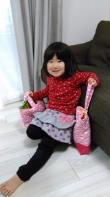 孫Nちゃん(絵本袋と上靴入れ)