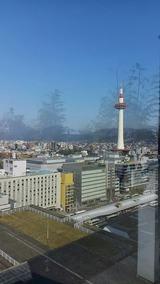 京都駅屋上から見た京都タワー