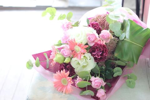~ピンク系のお花束~