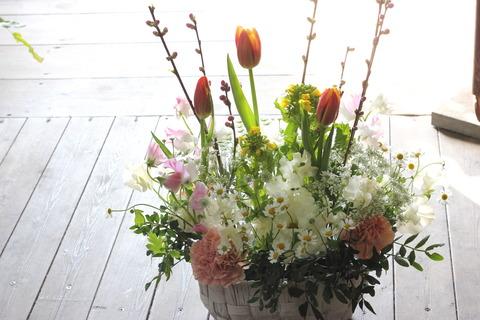 * 桃と菜の花 *