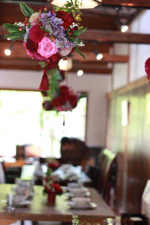 和の雰囲気のパーティー装花♪