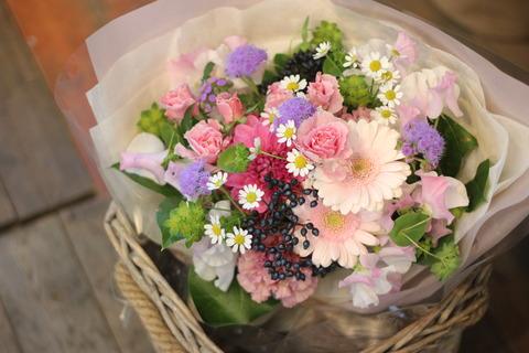 *ピンクの花束*
