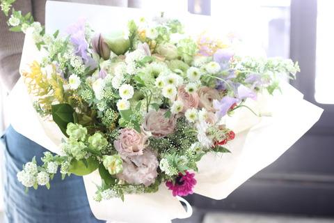 ふんわり春の花束