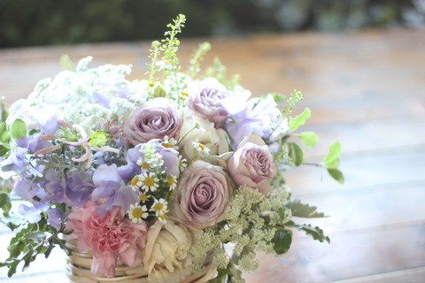 * lilac color arrangement *