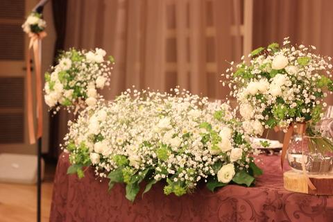 * カスミソウ×green wedding *