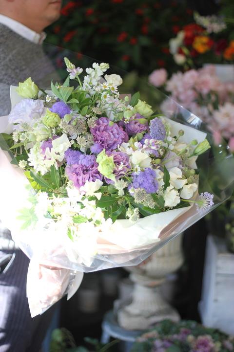 * やわらかなパープルの花束 *