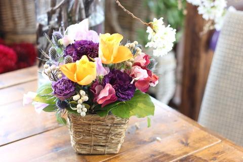 * 贈りものにお花を *