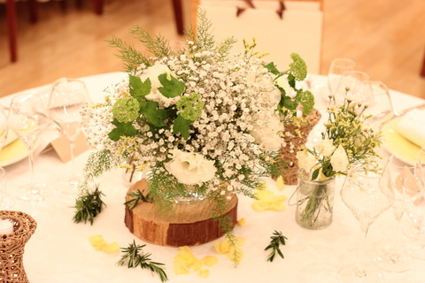 * 明るく爽やか white×yellow wedding *