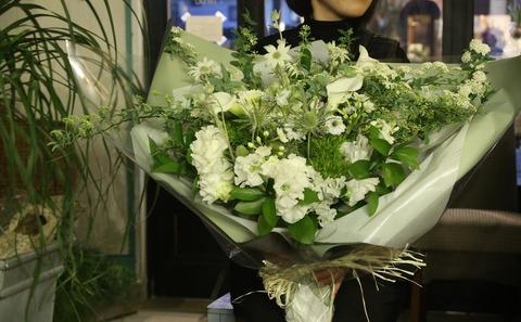 新婦様へ、サプライズ花束*