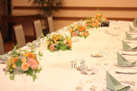** orange wedding **