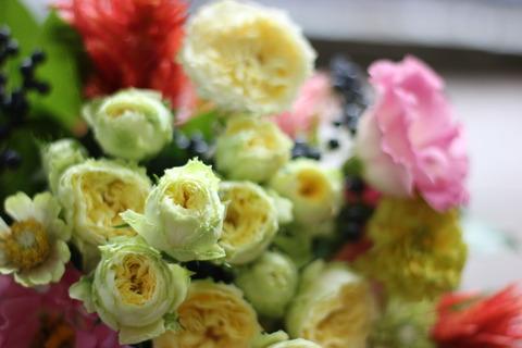バラ 「ビスカップ」の花束♪