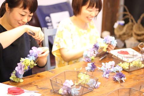 *紫陽花のリースレッスン開催中です*