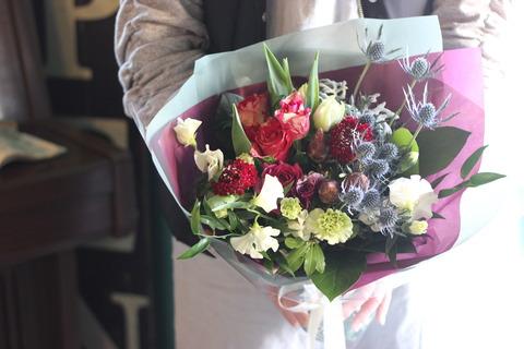 成人のお祝い 花束♪