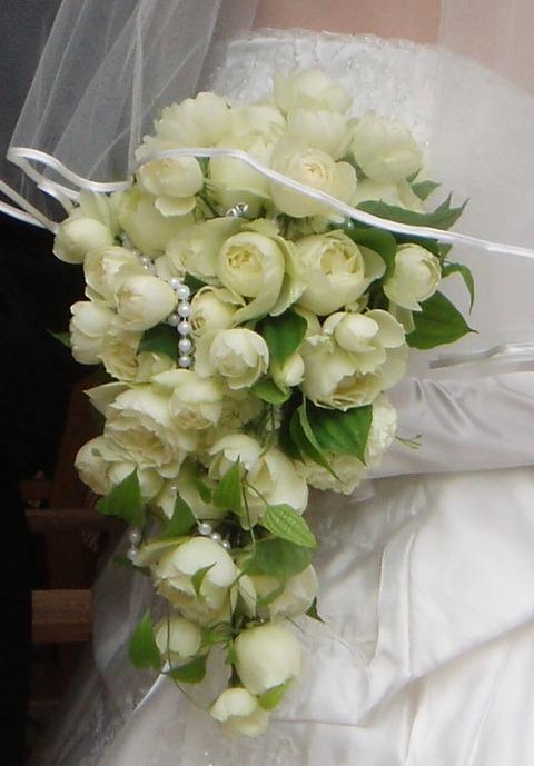 花嫁さんのオールドローズブーケ