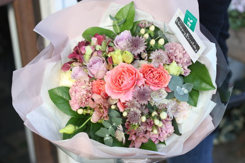 * お誕生日祝いの花束 *