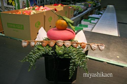 花市場の御鏡餅
