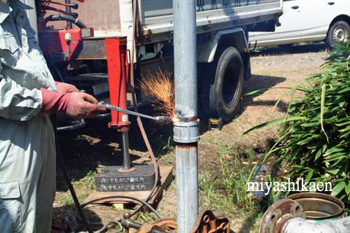 井戸水中モーターポンプ取替工事