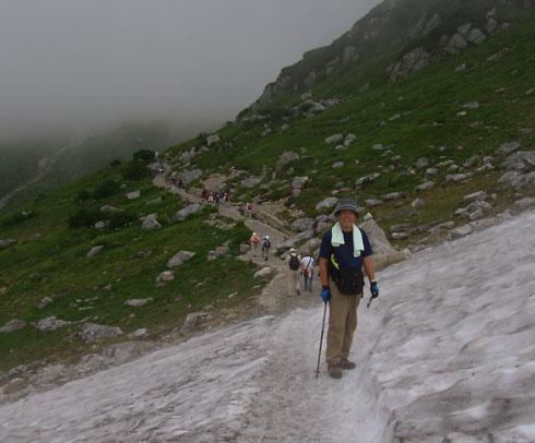 立山の雪渓