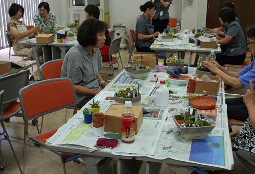 多肉植物の寄せ植え教室