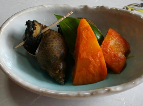 アズキ貝とカボチャの煮付け