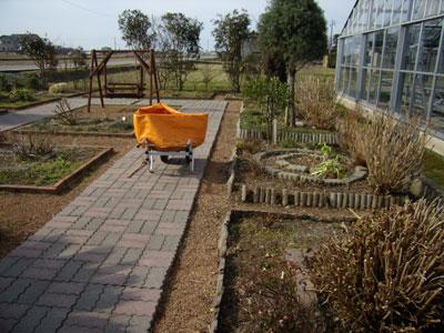 ガーデンの掃除