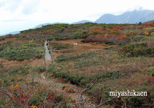 避難小屋から赤兎山方面を見る