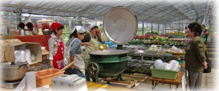 創業祭の大鍋