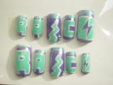 ネイルチップ・紫&水色
