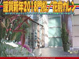 謹賀新年2018門松(4)/花前カレン画像01▼画像クリックで640x480pxlsに拡大@エリ子花前カレン