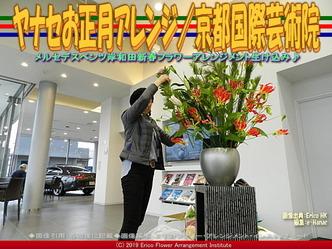 ヤナセお正月アレンジ(4)/京都国際芸術院画像01 ▼画像クリックで640x480pxlsに拡大@エリ子花前カレン