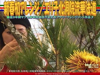 新春初アレンジ(5)/エリ子北洞院流華法道画像01▼画像クリックで640x480pxlsに拡大@エリ子花前カレン