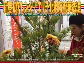 新春初アレンジ(3)/エリ子北洞院流華法道画像02▼画像クリックで640x480pxlsに拡大@エリ子花前カレン