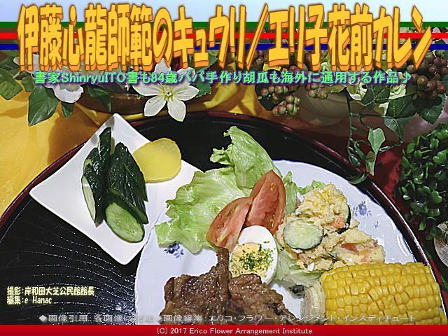 書家心龍師範胡瓜(5)/エリ子花前カレン画像03