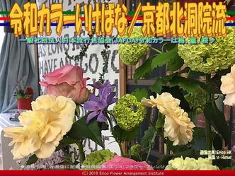 令和カラーいけばな(6)/京都北洞院流画像01 ▼画像クリックで640x480pxlsに拡大@エリ子花前カレン