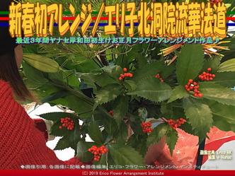 新春初アレンジ(4)/エリ子北洞院流華法道画像02▼画像クリックで640x480pxlsに拡大@エリ子花前カレン