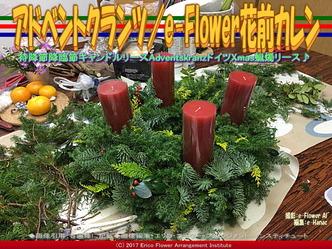 アドベントクランツ(2)/e-Flower花前カレン画像01 ▼画像クリックで640x480pxlsに拡大@エリ子花前カレン
