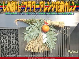 しめ飾り/フラワーアレンジ花前カレン画像01 ▼画像クリックで640x480pxlsに拡大@エリ子花前カレン