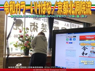 令和カラーいけばな(3)/京都北洞院流画像02 ▼画像クリックで640x480pxlsに拡大@エリ子花前カレン