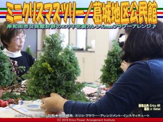 ミニクリスマスツリー手順/岸和田フラワーアレンジ画像02 ▼画像クリックで640x480pxlsに拡大@エリ子花前カレン
