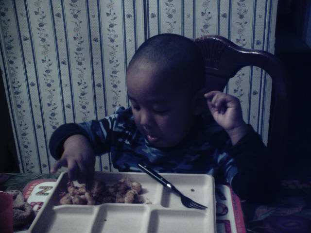 chris   eating...