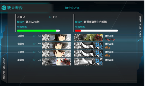 【艦これ】「第十一駆逐隊」対潜哨戒!任務メモ