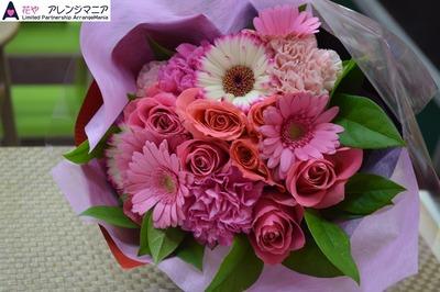 プロポーズや記念日にピンクの花束・沖縄の花屋