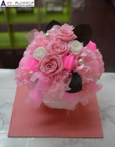 沖縄プリザーブドフラワー花屋ピンク
