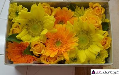 沖縄の花屋 ボックスフラワー・ボックスアレンジ