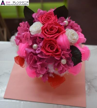 沖縄プリザーブドフラワー花屋濃いピンク