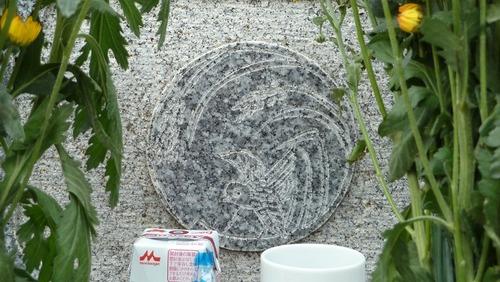 変わり稲の丸に雀