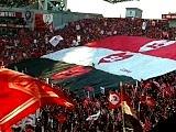浦和レッズ×ガンバ大阪 後半開始前のデカ旗